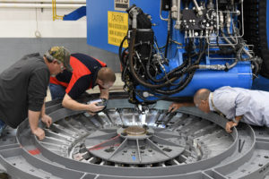At the NASA Michoud Assembly Facility in Louisiana, Lockheed Martin technicians have started building the first Orion that will carry humans to deep space on Exploration Mission-2. Image courtesy of NASA. (PRNewsfoto/Lockheed Martin)